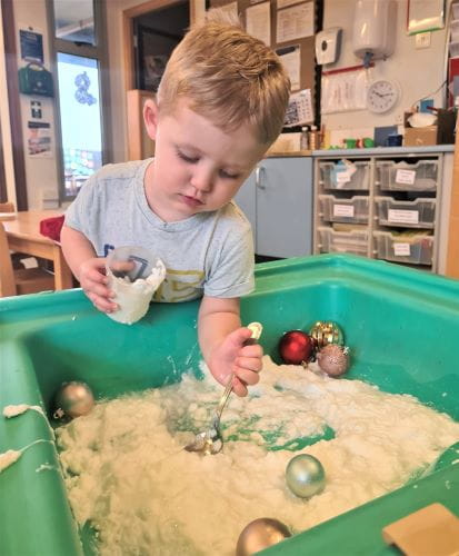 Barrow-In-Furness children take part in festive sensory play