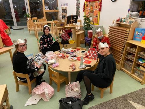 Aberdeen nursery staff enjoy Christmas evening