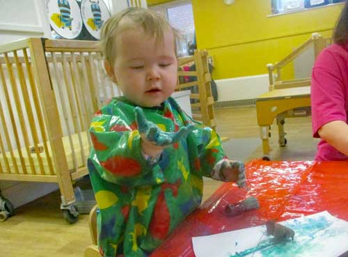 Liverpool nursery children embrace messy play activity